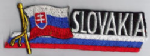 Slovakia Embroidered Flag Patch, style 01.